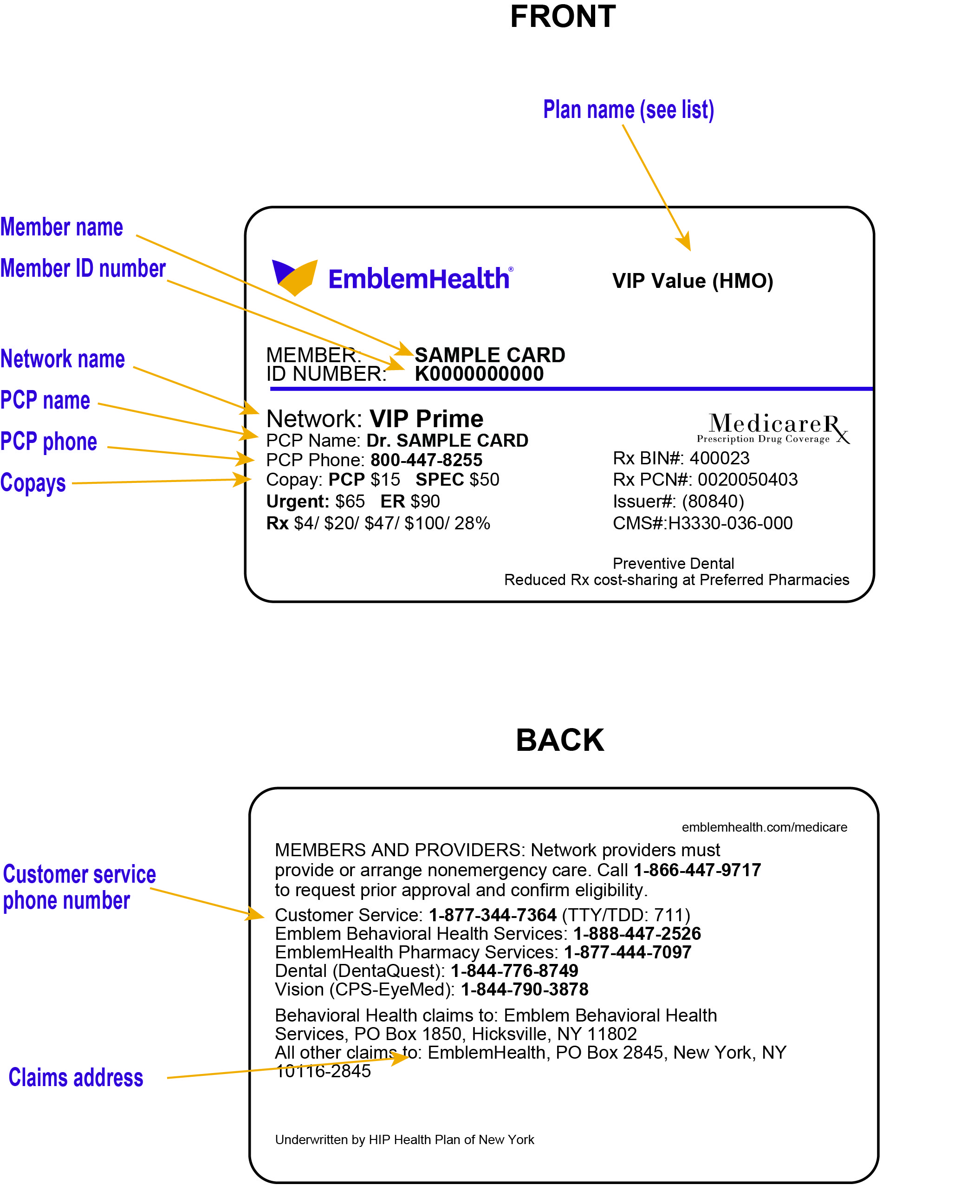 Member Identification Cards Emblemhealth